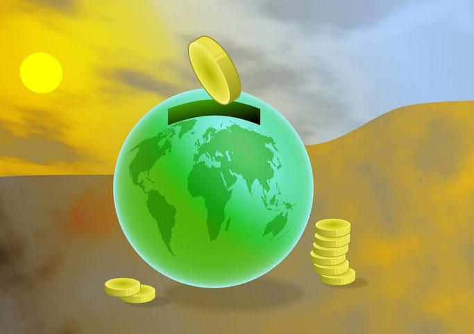 Sparpläne sparen Welt Geldose