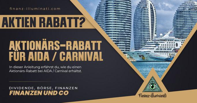 Wie erhalte ich den Aktionärs-Rabatt bei Carnival?