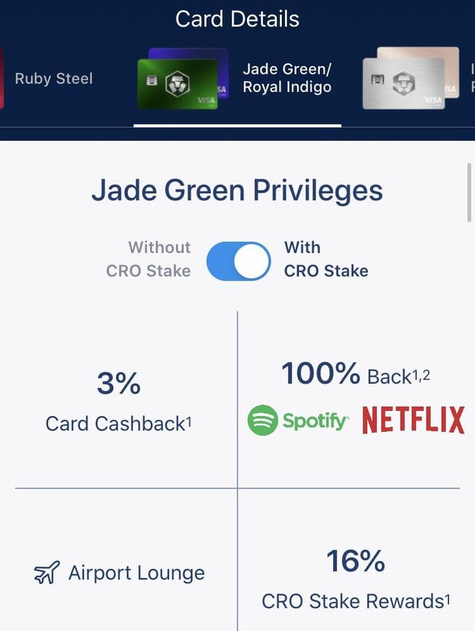Crypto.com Cashback Kreditkarte welche Bonusaktionen