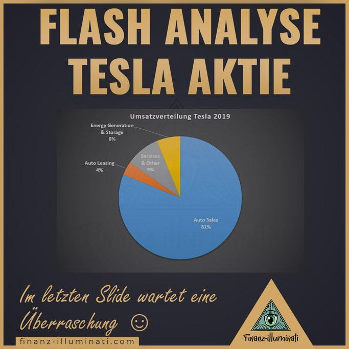Tesla Segmente Verteilung von Umsatz in Auto Sales Auto Leasing Energy Generation Services