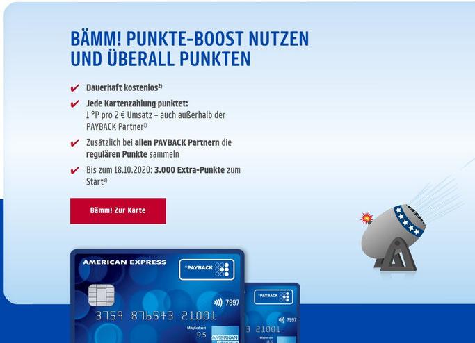 Kostenlose Payback American Express Kreditkarte