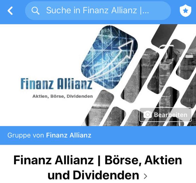 Finanz Allianz | Börse, Aktien und Dividenden - Facebook Gruppe