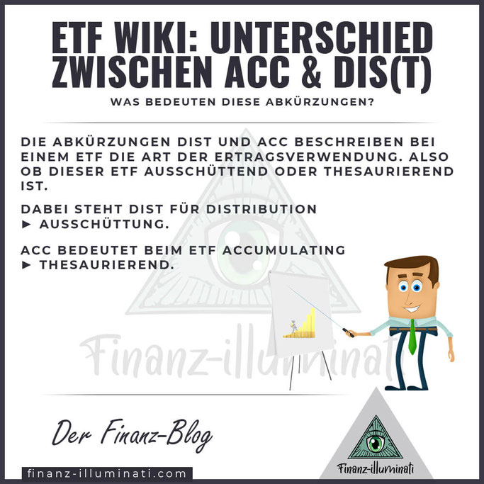 ETF Unterschied zwischen ACC und DIST DIS