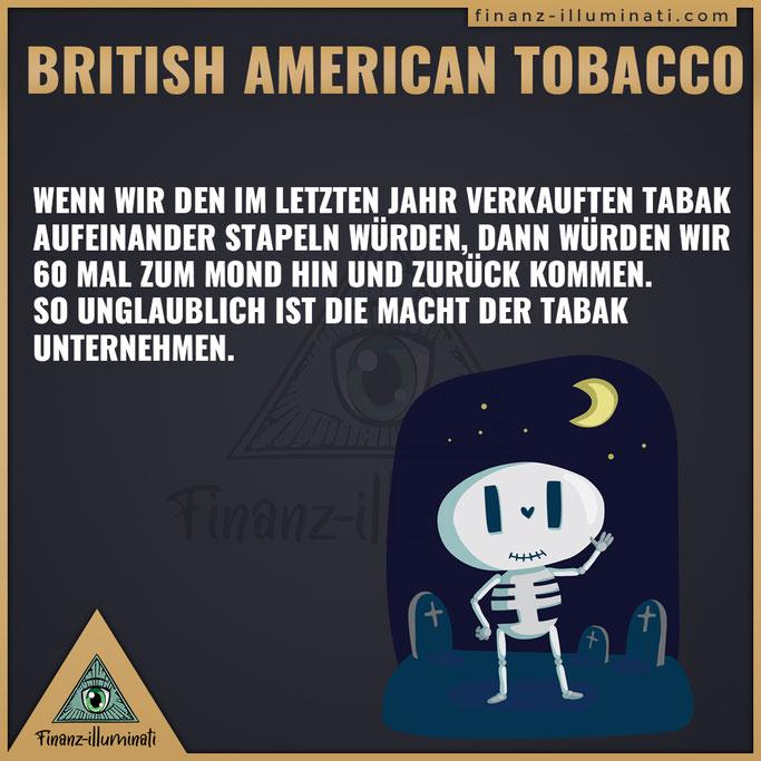 British American Tobacco verkaufter Tabak zum Mond
