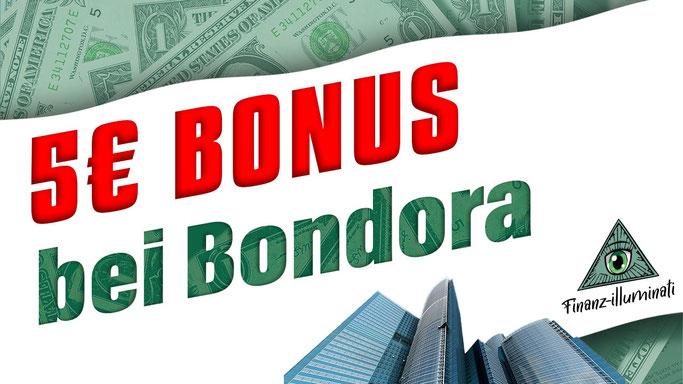 Bondora 5€ Anmelde Bonus
