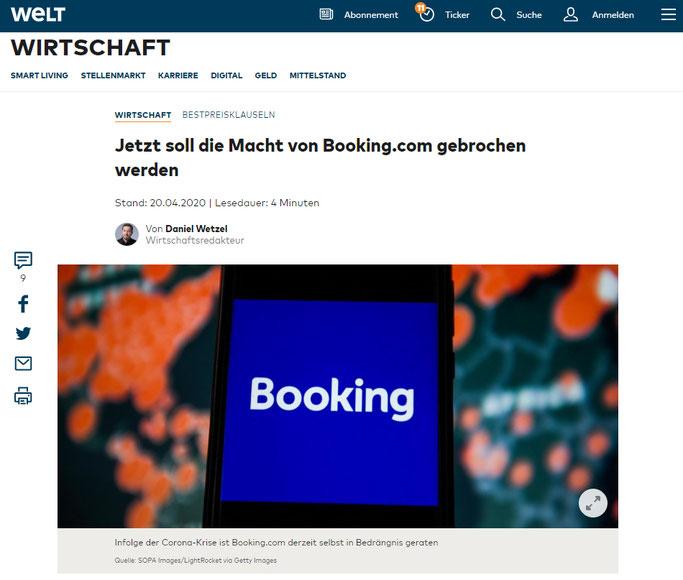 Hunderte Hoteliers bereiten Sammelklage gegen Booking Holdings Aktie vor