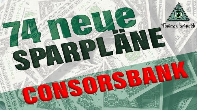 74 neue Sparpläne bei Consorsbank