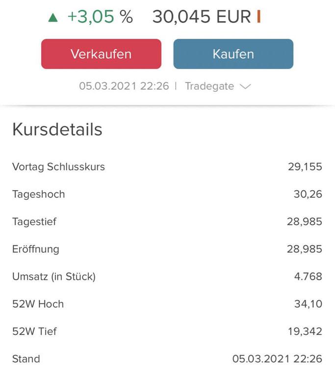 Consorsbank App Kursdetails
