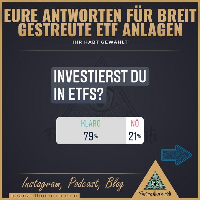 Umfrage: Wie viele Menschen investieren in ETFS?