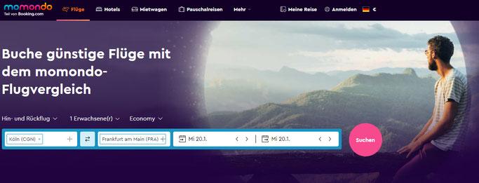 Momondo - Flugsuchmaschine und zugehörig zu Booking.com Booking Holdings Aktien Analyse