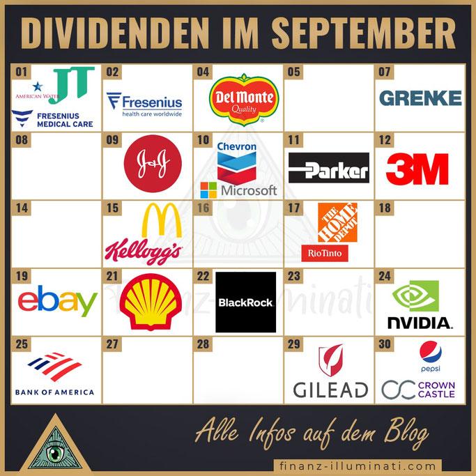 Dividendenkalender im September 2020