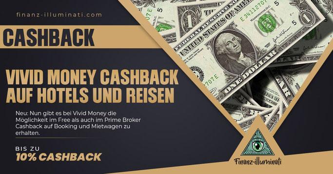 Vivid Money Cashback für Booking.com Hotels und Mietwagen