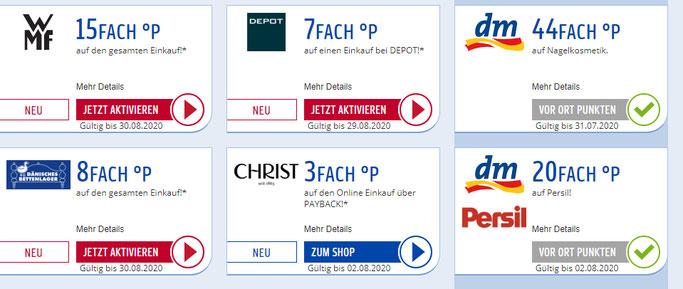 Kostenlose Gratis Produkte mit Cashback bei Payback