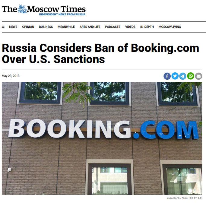 Russland sperrt Booking.com wegen Sanktionen Aktien Dividende Börse