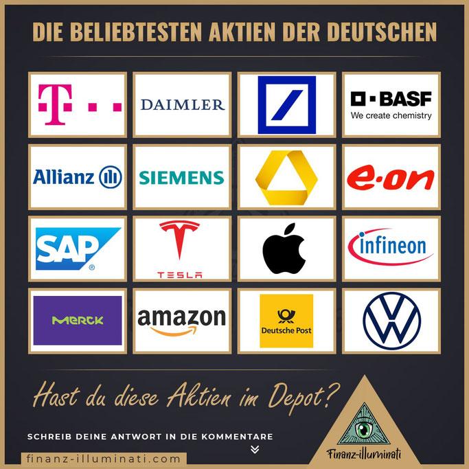Die beliebten Aktien der deutschen
