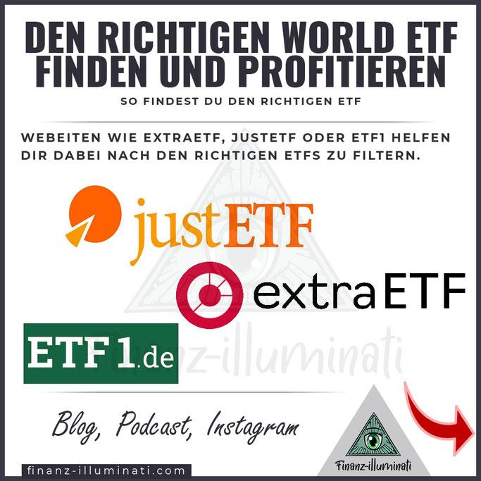 Wo suche ich nach guten ETFs?