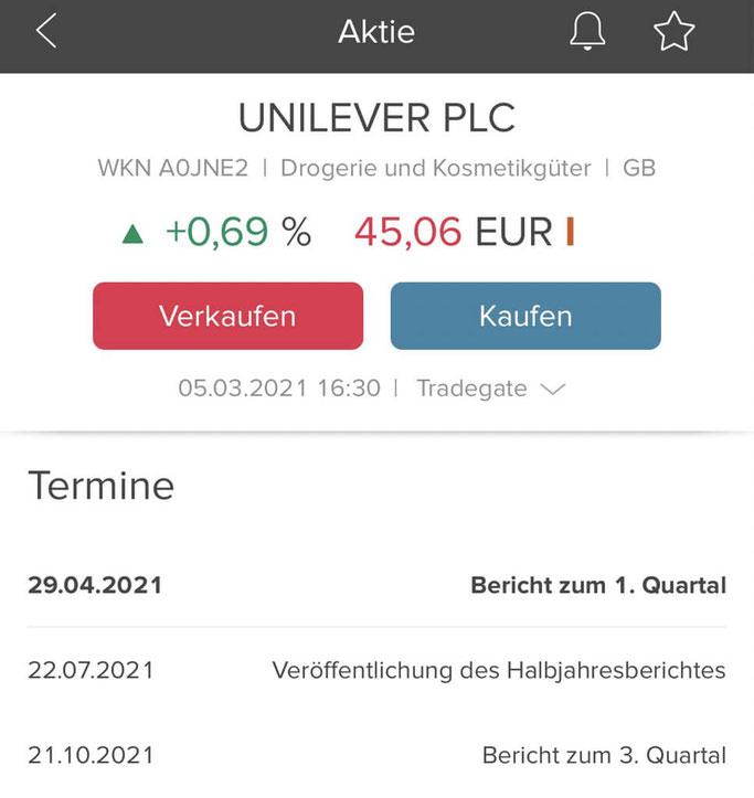 Consorsbank App Termine und Berichte - Hauptversammlungen und Quartalsberichte
