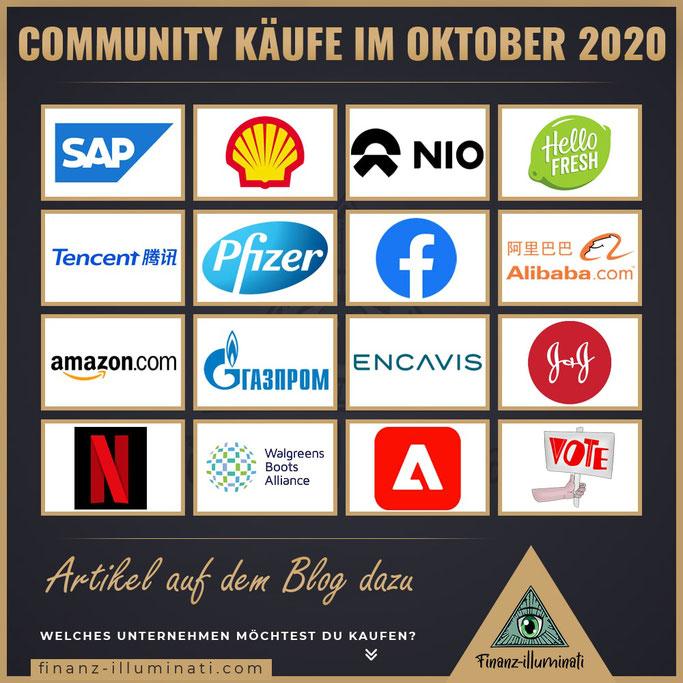 Diese Aktien wurde im Oktober 2020 gekauft
