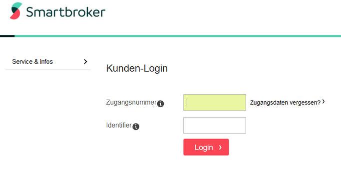 Wo finde ich den Identifier? Smartbroker Passwort