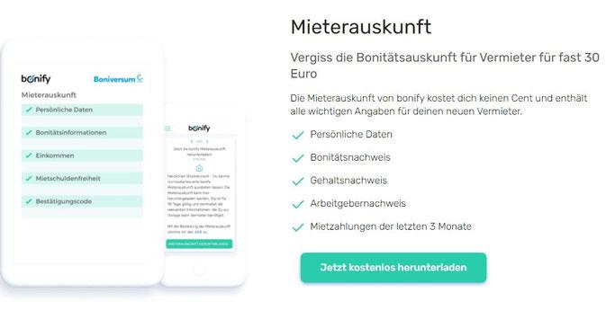 Bonify kostenlose Bonitätsauskunft