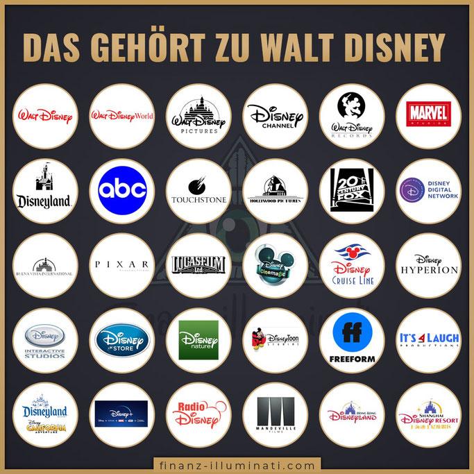 Was gehört alles zu Walt Disney? Welche MArken gehören zum Disney Konzern?