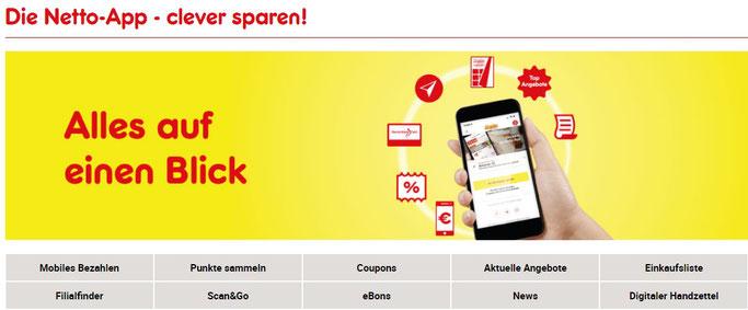netto app cashback mit deutschlandcard kombinieren