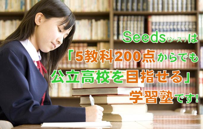 5教科200点からでも公立高校を目指せる個別学習塾Seeds 宝塚市小林に誕生
