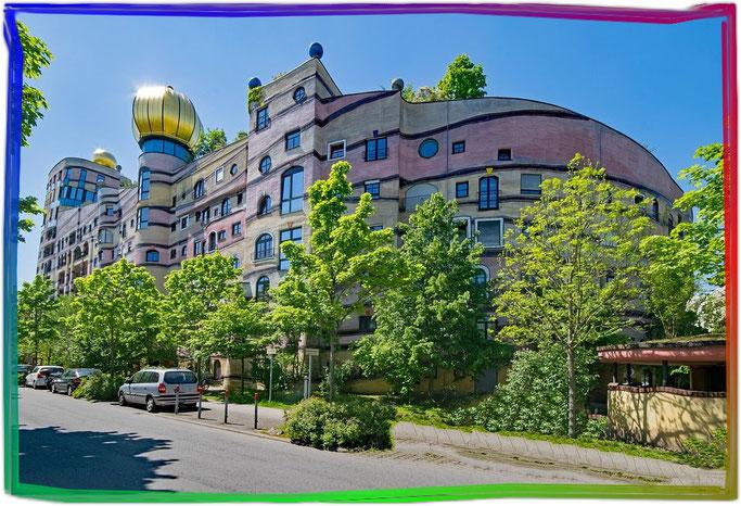 Hundertwasser Waldspirale in Darmstadt