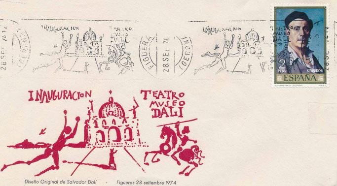Sonderstempel zur Eröffnung des Dalí Museum in Figueras am 28. September 1974
