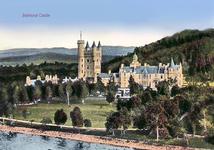Ansichtskarte von Balmoral Castle um 1900