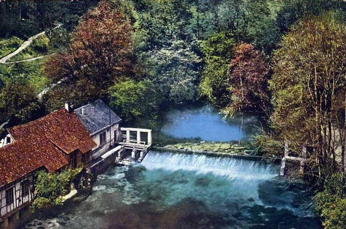 Ansichtskarte Blautopf um 1915