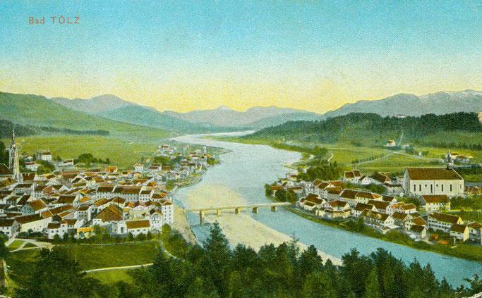 Ansichtskarte von Bad Tölz 1910