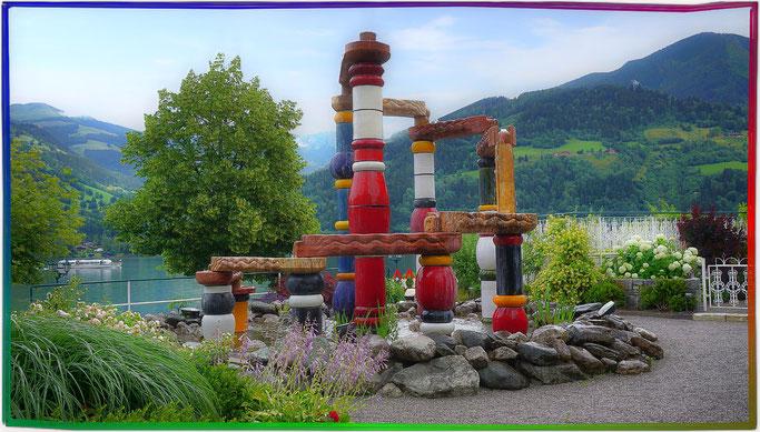 Der Österreichbrunnen in Zell am See