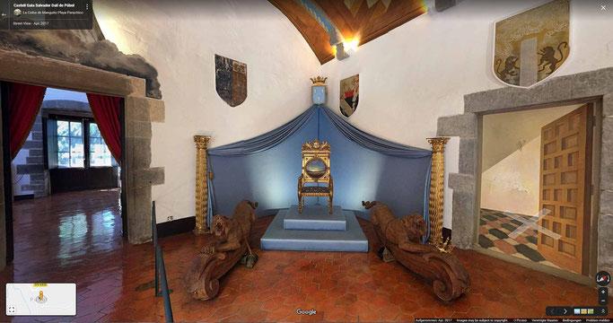 Eingangsbereich im Schloss Púbol