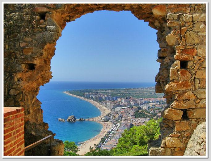 Blick vom Sant Joan auf Blanes, Costa Brava, Costa Dorada