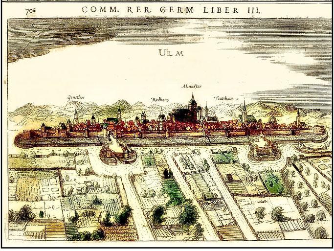 Kupferstich Ulm um 1570