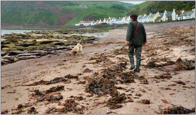 """Am Strand von Pennan. In diesem Ort wurde 1982 der Film """"Local Hero"""" mit Burt Lancaster gedreht."""