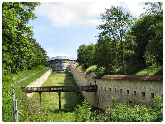 Bundesfestung Ulm, Werk XI Anschlusslinie zur Wilhelmsburg