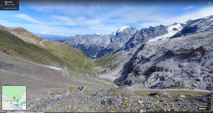 Stilfser Joch.  Klick ins Bild zur Panorama Ansicht.