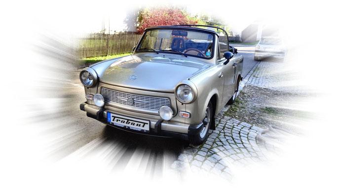 Umgebauter Trabant als Cabrio.