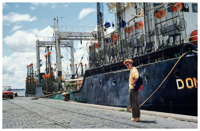 Fischkutter im Hafen von Montevideo
