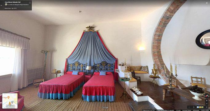 Schlafzimmer von Dalì.