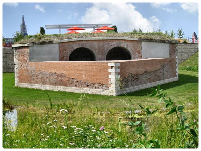 Bundesfestung Ulm, Die Stadtumwallung der Neu-Ulmer Seite   Front 3 - 5