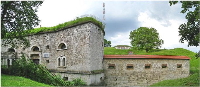 Bundesfestung Ulm Oberer Kuhberg Werk XXXII  Ostseite Eingangsbereich.