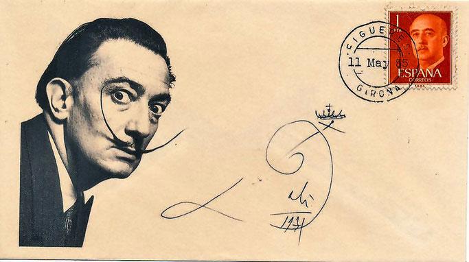Salvador  Dalí Autogramm auf Brief