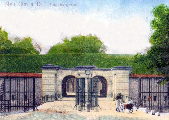 Bundesfestung Ulm, Die Stadtumwallung der Neu-Ulmer Seite   Front 1 - 3