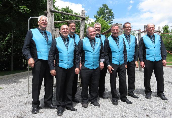 Hitzkirch 16.06.2019 von links: Rolf, Hans, Peter, Heinz, Michel, Heinz, Dani, Franz