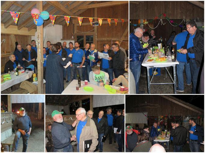 Eindrücke von Knorrli's 60. Geburtstag in der Waldhütte in Elfingen