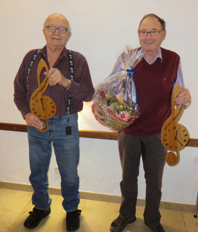 Unsere Jubilare Toni Brogli und Leo Brogle bringen es zusammen auf 250 Ehren-Jahre!