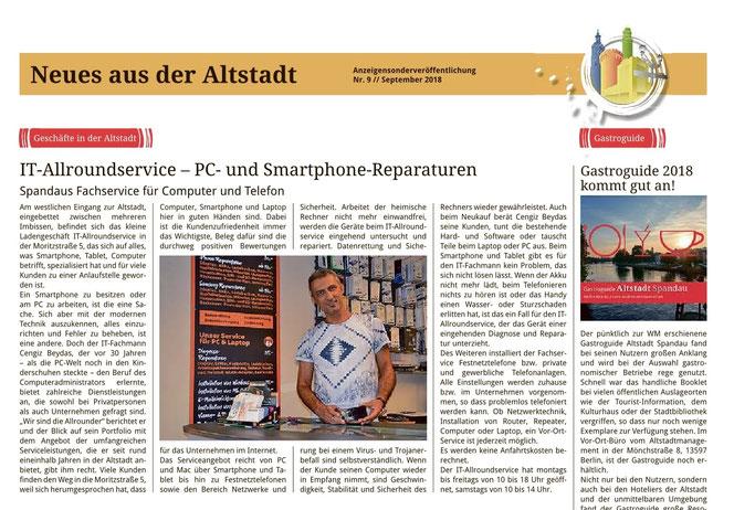 Spandauer Volksblatt (Seite 16) vom September 2018